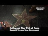 Star Donald Trump Destroyed On Hollywood Walk Of Fame