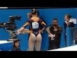 Spanish Gymnast Performs Floor Routine & Balance Beam