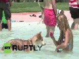 Spain: World's First Pool For Pups Gets Tails Wagging In Barcelona