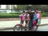 Six People Travel On Overloaded Motorbike