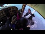 Skydivers Escape A Mid Air Collision Between Two Planes!