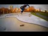Skater Hits Camera Drone