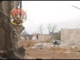 Syrian Sniper Is Blown Out Of His Cover
