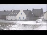 Scary Waves Approach Coastal Town