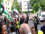 Syria - Frankfurt, Germany - Confrontation Between Pro Syrian Forces Against NATO Mercenarys! -31.05.2013