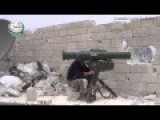 Syrian Rebel Tank Buster Team In Action With Chinese ATGM