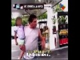 Stupid Journalist Is Beaten By Angry Father