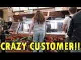 SUBWAY CUSTOMER GOES MENTAL FOR A MEATBALL SUB!!