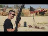 Sniper Rifle Shoots Watermelon In SLOW MOTION