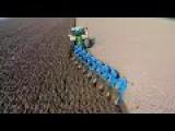 TRACTOR PORN: Ploughing John Deere 8360R & 9 Furrow Lemken Diamant 12