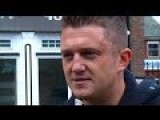 Tommy Robinson Attacked By Pakistani Mob