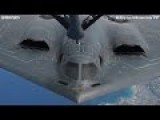 The Northrop B-2 Spirit Stealth Bomber AIR REFUELING ! VERY CLOSE VIEW