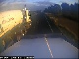 Truck Driver Films Terrifying Near Miss With Overtaking Car