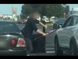 The Moment A Man Threatens Driver With A Baseball Bat