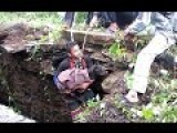 Touching Moment A Trapped Dog Is Rescued From Deep Hole
