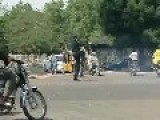 Traffic Officer Having Fun While Directing Traffic