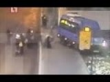 The Passenger Bus Knocked Down A Crowd Of People At The Bus Stop In Russia