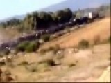 Truck Falls From Highway And Causes A Train To Derail