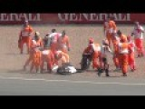 The Best Moto GP Fight EVAR. Great Sucker Punch At The End