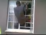 Thief Breaking Into House Caught