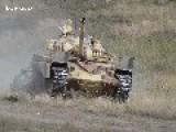 T-72 Main Battle Tank Crushes Car Slo-Mo HD