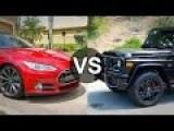 Tesla Model S Vs Mercedes G63 AMG BiTurbo On The Street