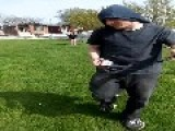 Teen Drop Kicks Friend