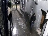 Two Stupid Armed Robbers Unaware They Were Being Filmed By CCTV