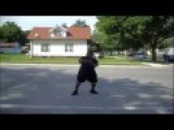 Thug Showing Dancing Skills. Ice Cream Man Ain't Got Time For That!