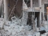 The Moment Of The Fall Of The Explosive Barrels By Regime Forces In Aleppo