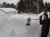 Two Men And One Shovel Take On A Blizzard
