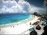 Timelapse Shows Clouds Forming Over Cancun Beach