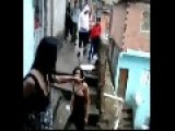 Two Ladys Fight In Favela