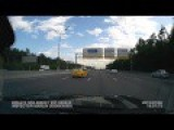 The Taxi Skidded On The Moscow Ring Road