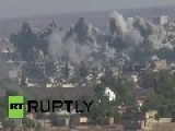 Turkey: Explosions And Black Smoke Dominate Kobane Skyline