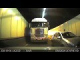 Truck Driver Refuses To Let Car Merge In Sydney Tunnel