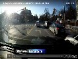 Toronto Police Smash Through Red Light
