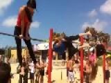 Trying Calisthenics On Haifa Beach