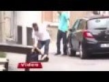 Turkish Muslim ABUSES His WOMAN In PUBLIC