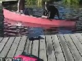 The Two Men In The Canoe Never Give Up