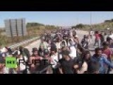 Turkey: Refugees March Down Motorway To Cross Turkish-Greek Border