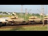 Train Carring US Army Tanks In Northern Romania