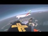 Two Men With Jetpacks Chase An A380 Jumbo Jet Above Dubai
