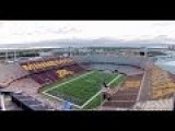 TCF Bank Stadium Drone Flyover. Home Of The Gophers And Temp Home Of Vikings