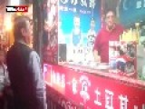 Turkish Ice Cream Vendor Gets The Chinese Man Dancing