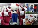 Taiwan's First Hello Kitty Train Launches On Its Maiden Voyage