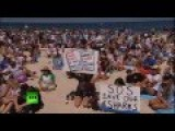 Thousands Protest Against New Shark Killing Policy In Australia