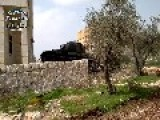 T-62 Firing Upon SAA Position Near Aleppo Courthouse