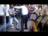 Taxi Driver Fights Traffic Cop Over Ticket