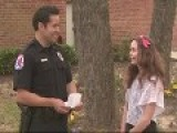 Texas Teen Gives Police Officer Parking Ticket